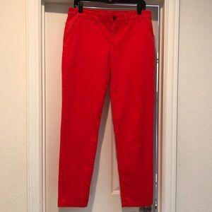 GAP red khakis size 6 broken-in straight